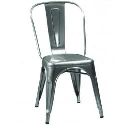 Metalowe Krzesło Industrialne Lofti Czerwone