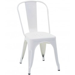 Metalowe Krzesło Industrialne Lofti Srebrne