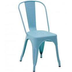 Metalowe Krzesło Industrialne Lofti Białe