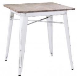 Metalowy Stół Industrialny Lofti Biały Przecierany B
