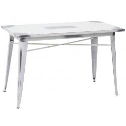 Metalowy Stół Industrialny Lofti Biały Przecierany C