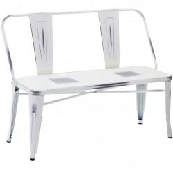 Metalowe Krzesło Industrialne Lofti Białe Przecierane A