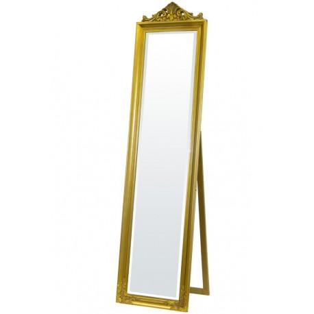 Stojące lustro oprawione w złotą ramę - nigdy nie przejdziesz obok niego obojętnie!