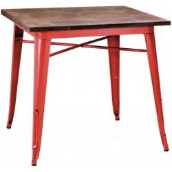 Metalowy Stolik Industrialny Lofti Czerwony B