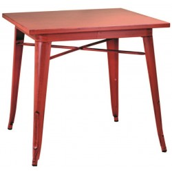 Metalowy Stolik Industrialny Lofti Czerwony A