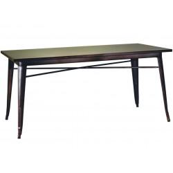Metalowy Stół Industrialny Lofti Brązowy Przecierany C
