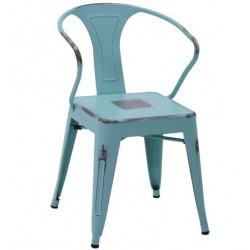 Metalowe Krzesło Industrialne Lofti Błękitne A