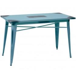 Metalowy Stół Industrialny Lofti Błękitny Przecierany D