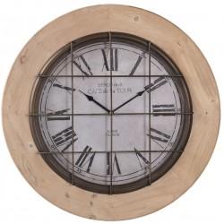Drewniany Zegar z Metalowymi Cyframi