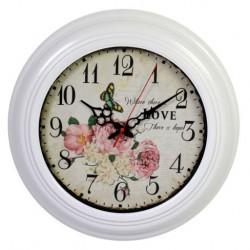 Zegar Prowansalski z Kwiatami C