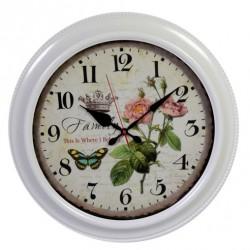 Zegar Prowansalski z Kwiatami B