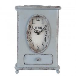 Zegarek Stołowy Prowansalski niebieskoszary