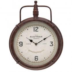 Zegar Loft Brązowy