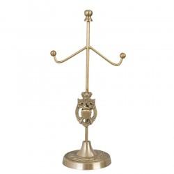 Stojak Na Biżuterię Metalowy Złoty