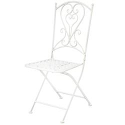 Krzesło Ogrodowe Prowansalskie Białe A