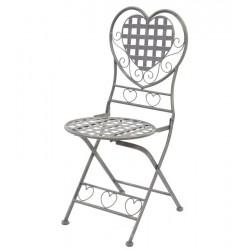 Krzesło Ogrodowe Prowansalskie Szare