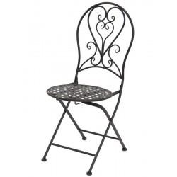 Krzesło Ogrodowe Prowansalskie Białe B