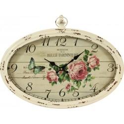 Zegar Prowansalski Owalny z Różami
