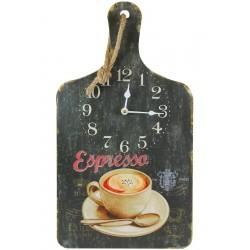 Zegar Retro Deska z Kawą