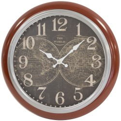 Zegar Retro Bordowy A