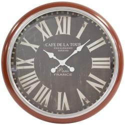 Zegar Retro Bordowy B