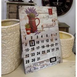 Retro Kalendarz Kanka z Lawendą