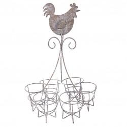 Krzesło Barowe Metalowe Czarne A