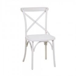 Krzesło Ogrodowe Plastikowe Białe