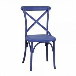 Krzesło Ogrodowe Plastikowe Niebieskie