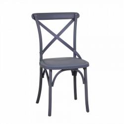 Krzesło Ogrodowe Plastikowe Szare