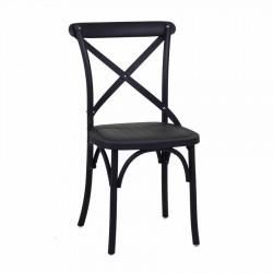 Krzesło Ogrodowe Plastikowe Czarne