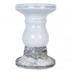 Świecznik Prowansalski Szary Ceramiczny C