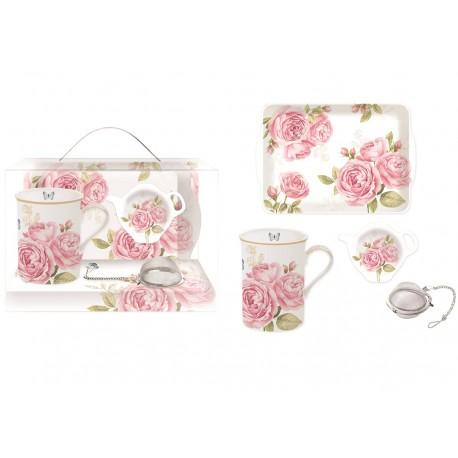 Zestaw Do Herbaty Powansalski z Kwiatami