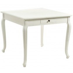 Stół Prowansalski Bielony Bienni Kwadratowy