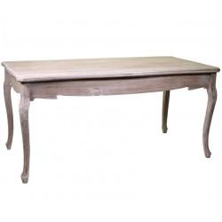 Bielony Stół Prowansalski Malmo Kwadratowy