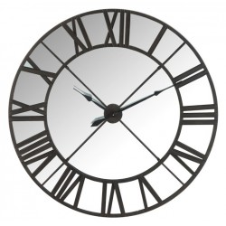 Duży Zegar Retro Czarny