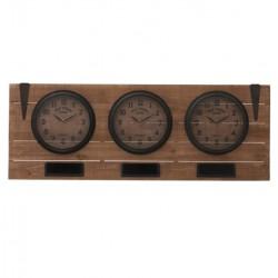 Potrójny Zegar Ścienny Loft A