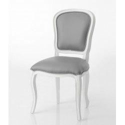Białe Krzesło Prowansalskie Tapicerowane
