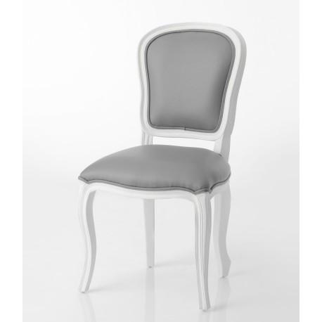 Białe Krzesło tapicerowane SONIA styl prowansalski
