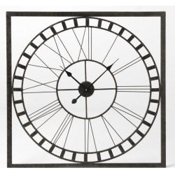 Zegar Industrialny Ażurowy Kwadratowy B