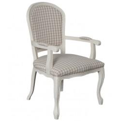 Krzesło Prowansalskie z Podłokietnikami Kremowe