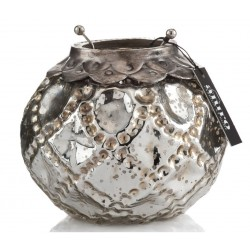 Szklany Lampion Aluro Srebrny B