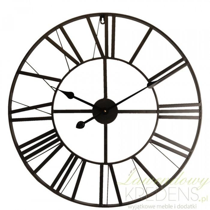 Stylowy zegar metalowy w ażurowej formie od holenderskiej marki Clayre&Eef to modny sposób na ozdobę ściany we wnętrzu retro i prowansalskim.