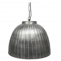 Lampa Sufitowa Metalowa Srebrna