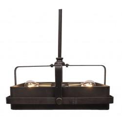 Lampa Sufitowa w Stylu Industrialnym Czarna