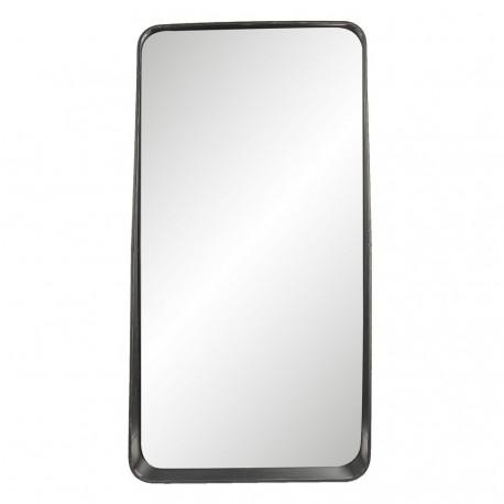 Duże lustro z półką to najlepszy i niezbędny element wyposażenia każdej łazienki w stylu industrialnym.