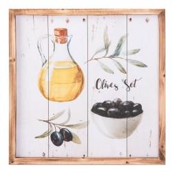 Obraz Do Kuchni z Oliwkami i Oliwą B