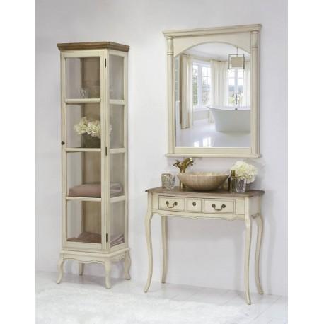 Piękna i bardzo elegancka konsola w stylu prowansalskim jestb stylizowana na stary mebel oraz wyposażona w dwie szufladki.