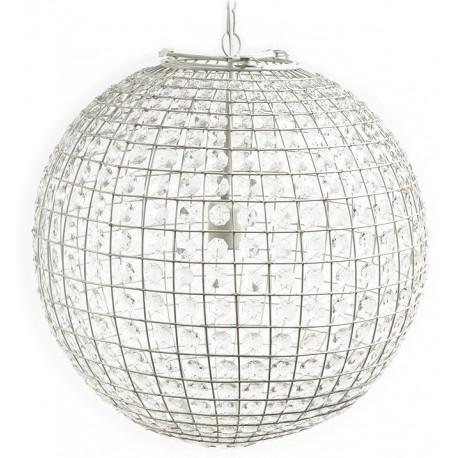 Lampa w kształcie kuli ozdobiona ogromną ilością kryształków