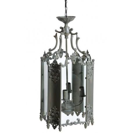 Mocno stylizowana lampa belldeco posiadająca oszklone ścianki